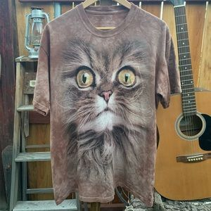 The Mountain full size cat face shirt.